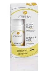 Aesthetico Aesthetico Reiseset (active foam + refresh&care)