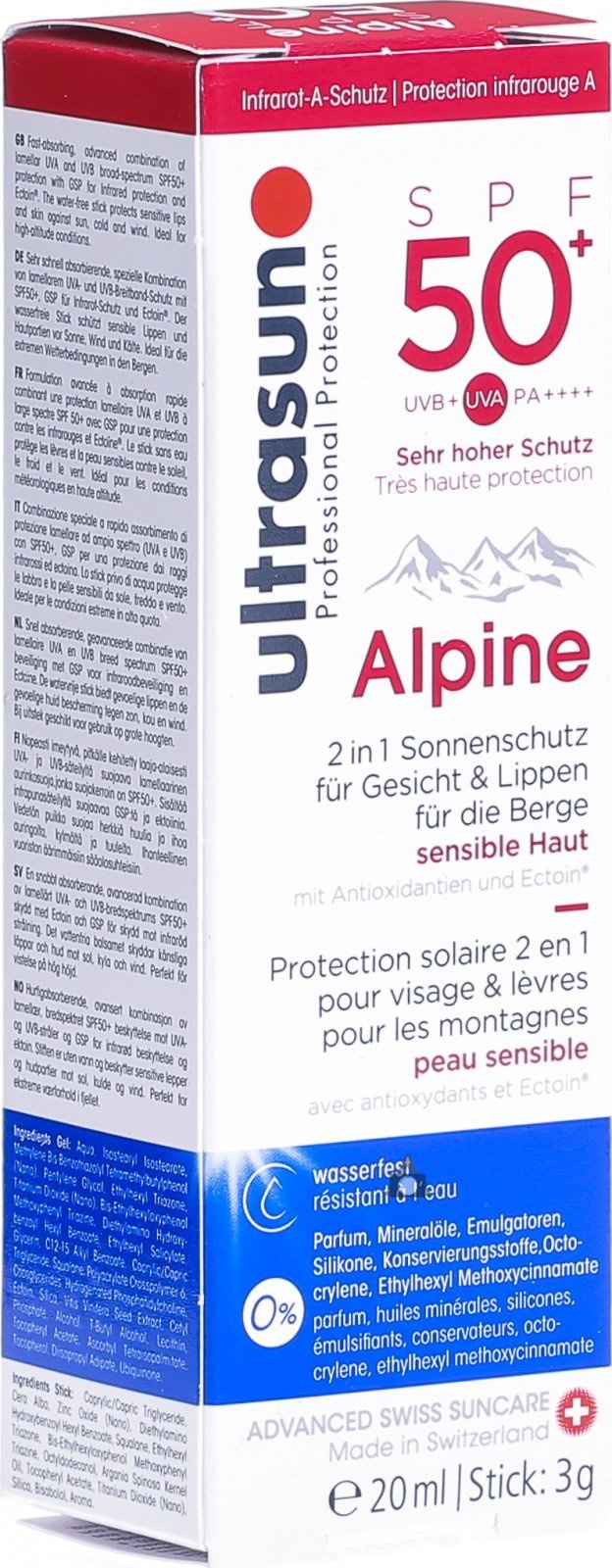 Ultrasun Ultrasun Alpine SPF 50+ 20ml