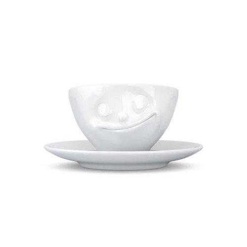 Tassen - kop en schotel - gelukkig