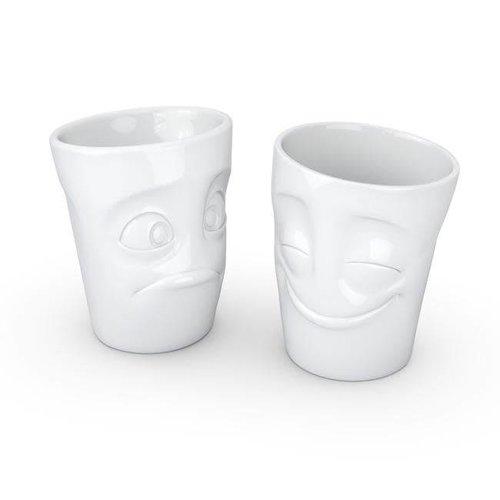 Tassen - mokken set - gelukkig & perplex