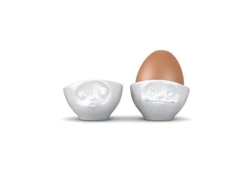 Tassen Tassen - eierdopjes - kussend & dromend