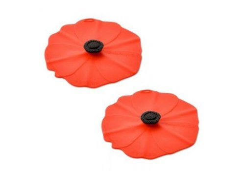 Charles Viancin Charles Viancin - drink covers - poppy (set van 2)