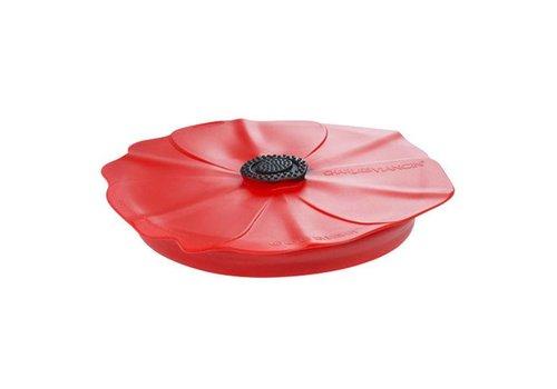 Charles Viancin Charles Viancin - siliconen deksel - poppy red scarlet (28 cm.)