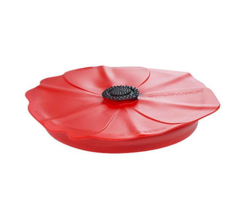Charles Viancin - siliconen deksel - poppy red scarlet (28 cm.)