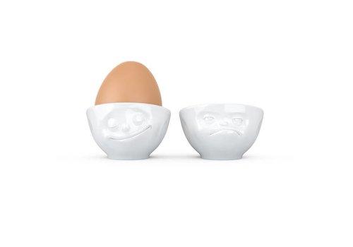 Tassen Tassen - eierdopjes - gelukkig & boos