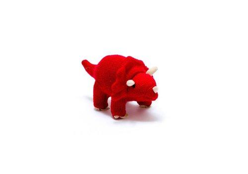 Best Years - gebreide rammelaar - triceratops
