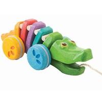 Plan Toys - trekdier - krokodil regenboog