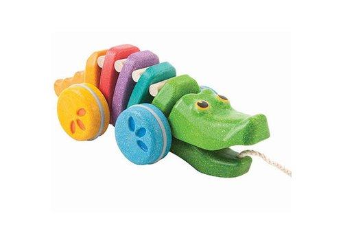 Plan Toys Plan Toys - trekdier - krokodil regenboog