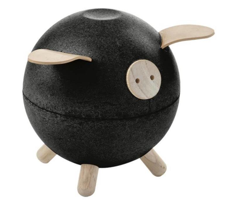 Plan Toys - spaarpot - zwart
