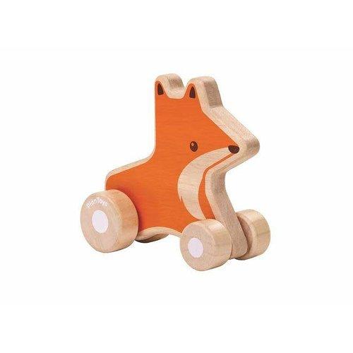 Plan Toys - vos op wieltjes