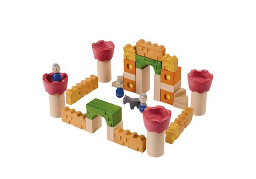 Plan Toys Plan Toys - houten blokken - kasteel