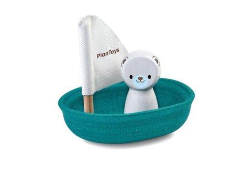 Plan Toys Plan Toys - zeilboot - ijsbeer