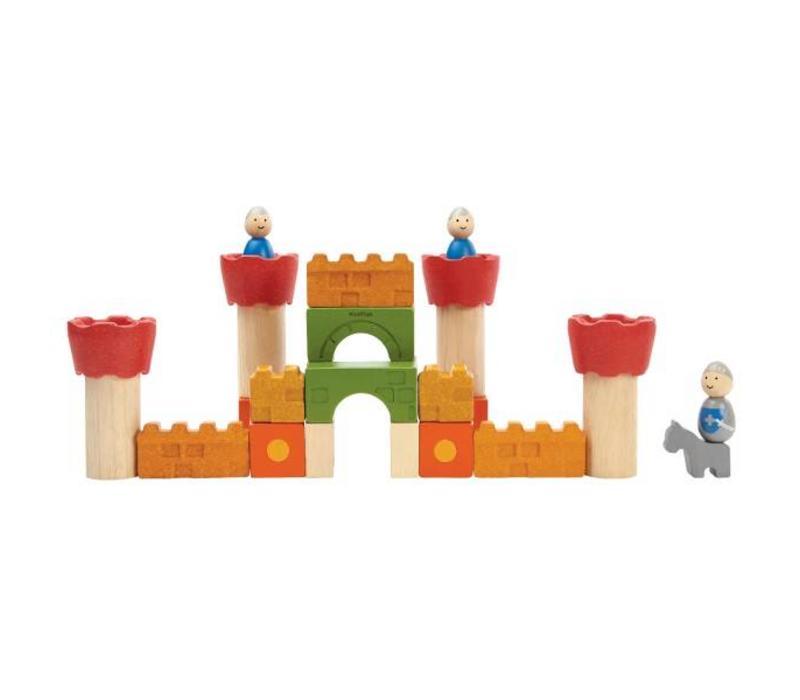Plan Toys - houten blokken - kasteel