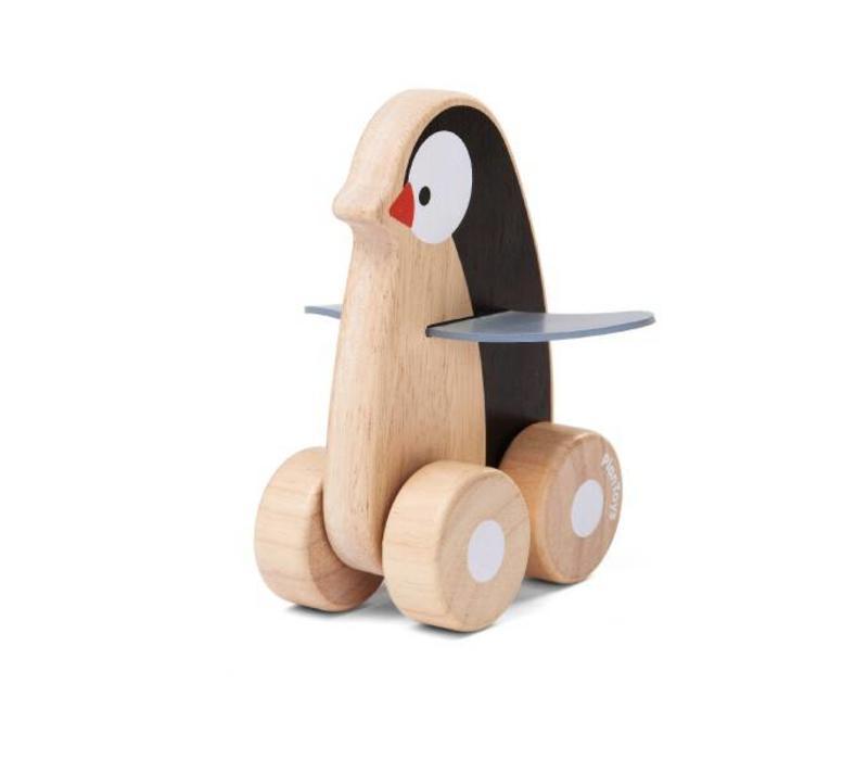 Plan Toys - pinguin op wieltjes