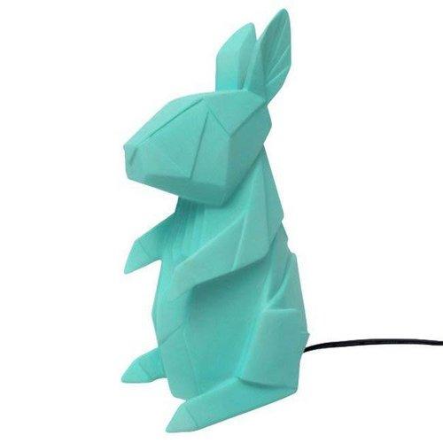 House of Disaster - lamp origami - konijn turquoise