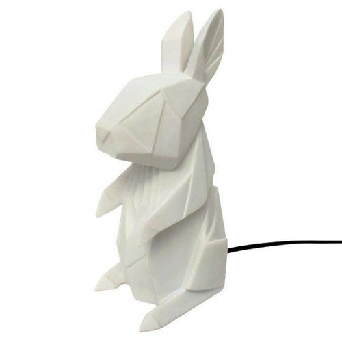 House of Disaster - lamp origami - konijn wit