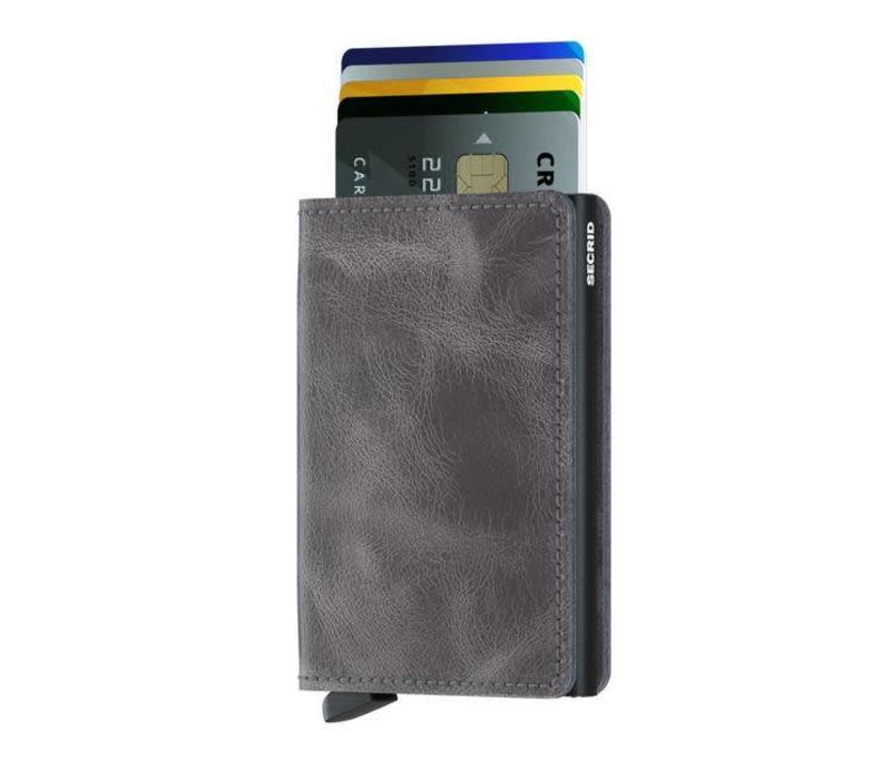 Secrid - slimwallet vintage - grey black