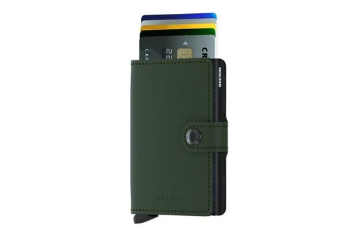 Secrid Secrid - miniwallet mat - green-black