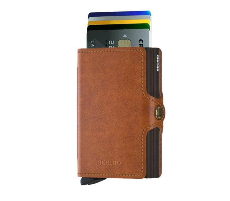 Secrid - twinwallet original - cognac-brown