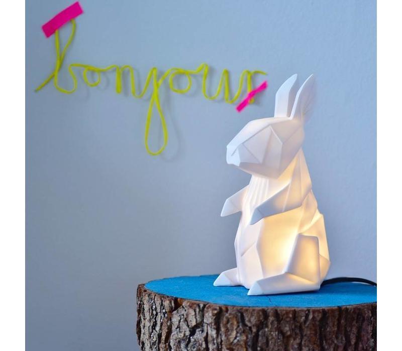 House of Disaster - mini-lamp origami - konijn wit