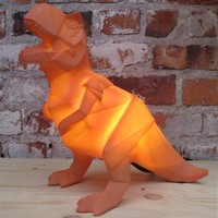 House of Disaster - lamp origami - t-rex