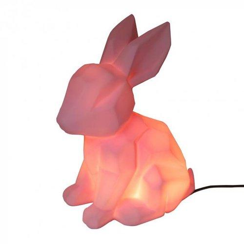 House of Disaster - lamp origami - konijntje roze