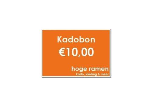 Kadobon - €10