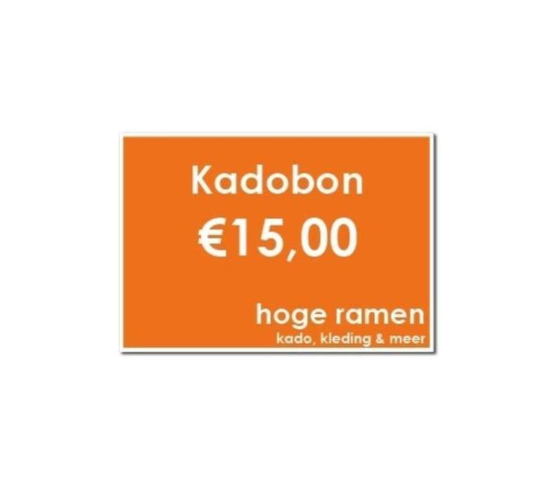 Kadobon - €15