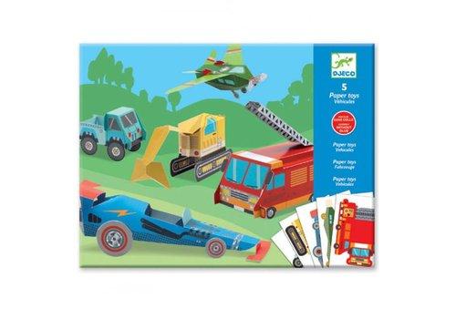 Djeco Djeco - vouwpakket - voertuigen