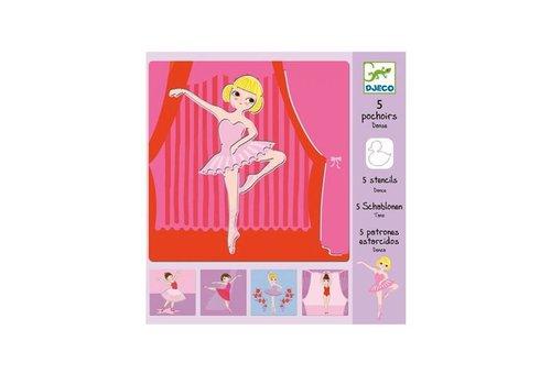Djeco Djeco - sjablonen - ballerina