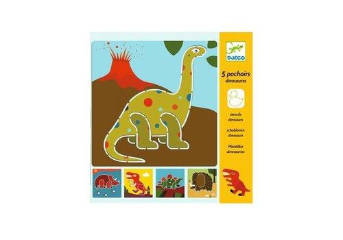 Djeco Djeco - sjablonen - dinosauriërs