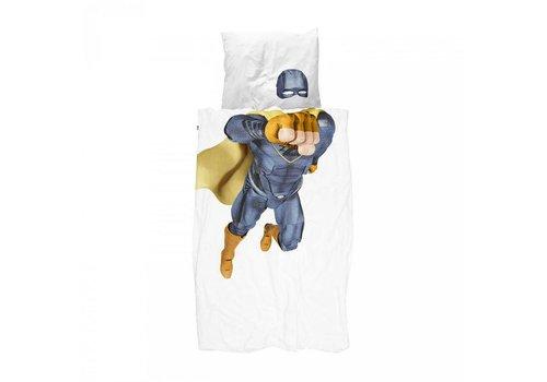 Snurk Snurk - dekbedovertrek - superhero blue