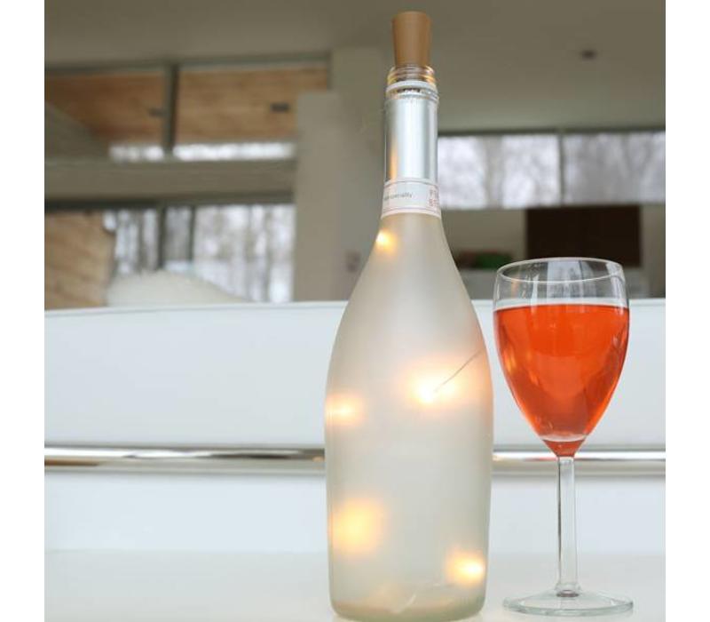 Kikkerland - lichtsnoer voor wijnfles