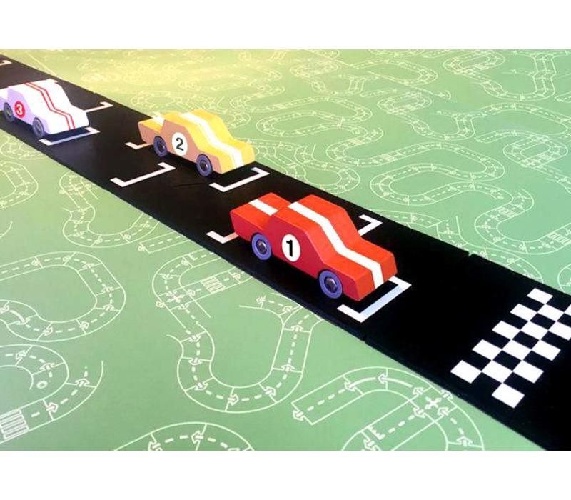 Way to play - flexibele autobaan uitbreidingsset - start & finish