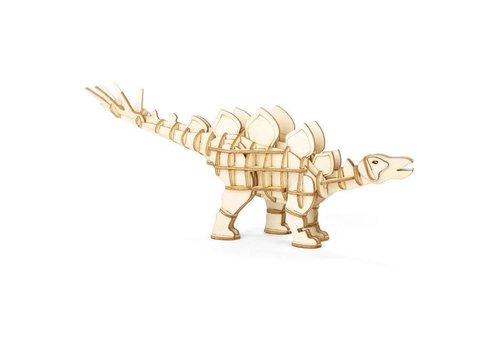 Kikkerland Kikkerland - 3d houten puzzel - stegosaurus