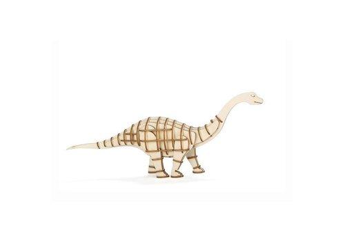 Kikkerland Kikkerland - 3d houten puzzel - apatosaurus