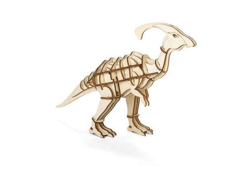 Kikkerland Kikkerland - 3d houten puzzel - parasaurolophus