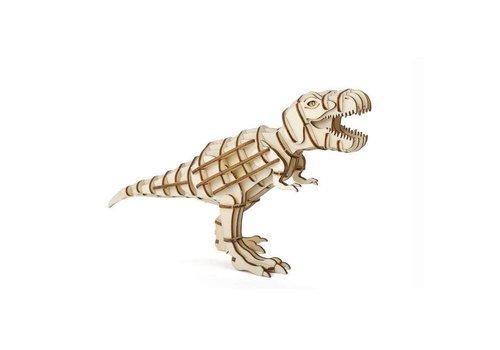 Kikkerland Kikkerland - 3d houten puzzel - t-rex