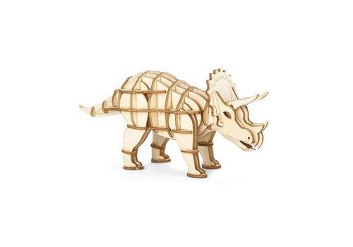 Kikkerland Kikkerland - 3d houten puzzel - triceratops