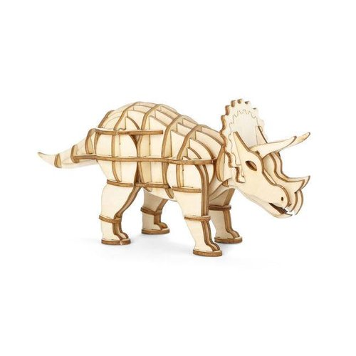 Kikkerland - 3d houten puzzel - triceratops