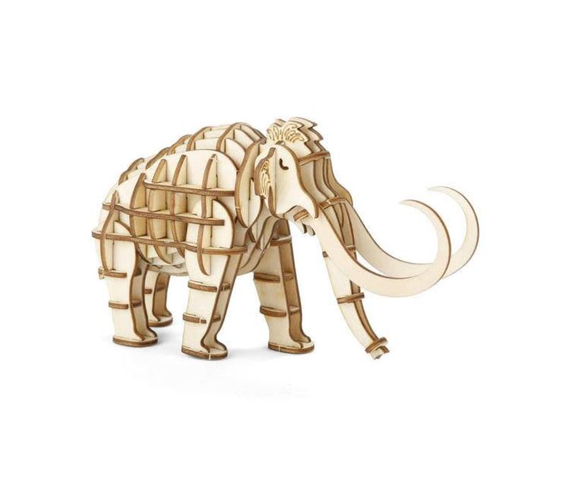 Kikkerland - 3d houten puzzel - mammoet