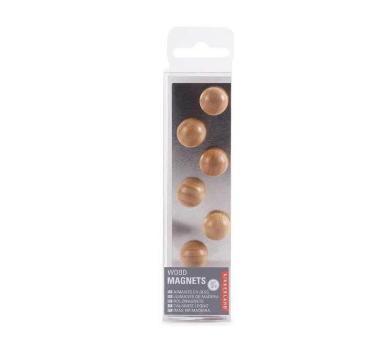 Kikkerland - magneet hout (set van 6)