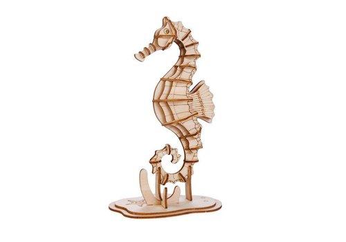 Kikkerland Kikkerland - 3d houten puzzel - zeepaardje