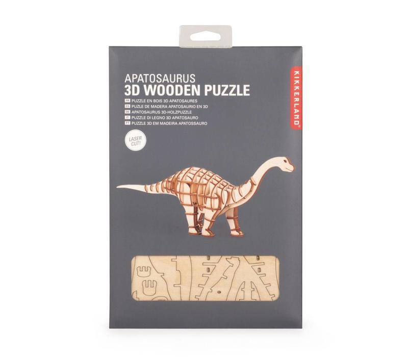 Kikkerland - 3d houten puzzel - apatosaurus