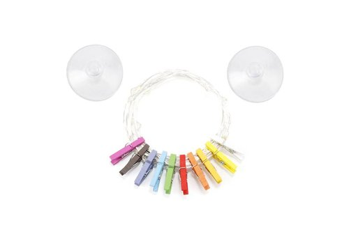 Kikkerland Kikkerland - lichtsnoertje - mini wasknijper