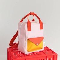 Sticky Lemon - rugzak envelope klein - soft pink + sporty red + warm yellow
