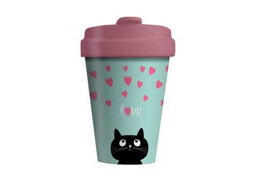 Chic mic Chic mic - bamboo cup - kitty love