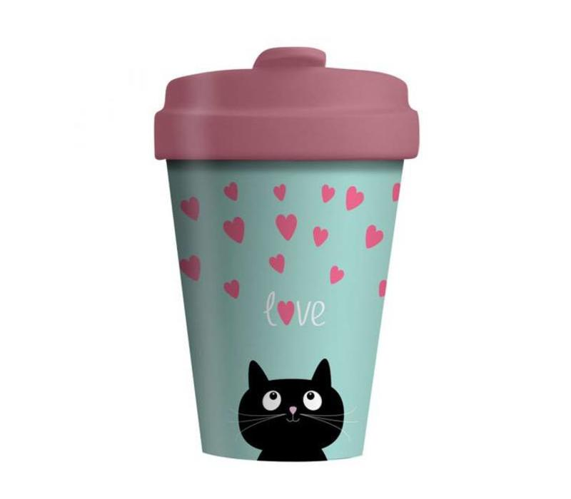 Chic mic - bamboo cup - kitty love