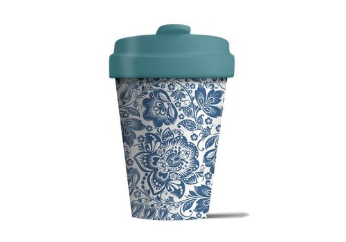Chic mic Chic mic - bamboo cup - blue flower