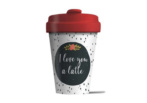 Chic mic Chic mic - bamboo cup - love you latte